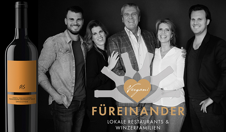 For each other - Local restaurants & vintner families - Vergani